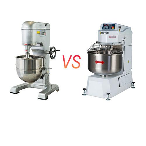 planetary mixer and spiral dough mixer