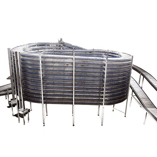 Food spiral cooling conveyor