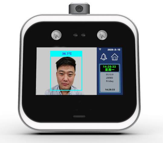 Infrared thermometer face recognition attendance device for company